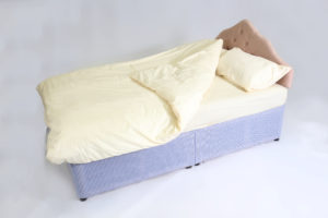 Double divan with bedding
