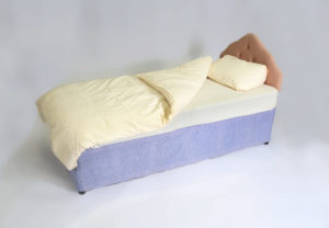 single divan with bedding